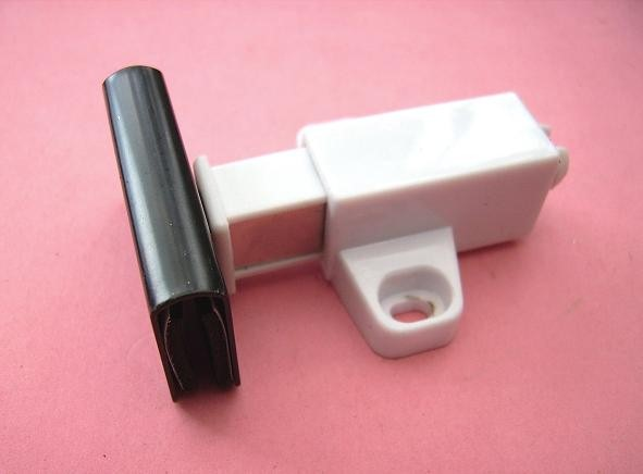 Magnetic Glass Door Square Push Touch Catch Blk Cp Counterplates 1